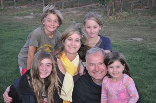 My favorite family photo from 7 years ago: Adi, Liat, Zev, Nava, Wendy and me